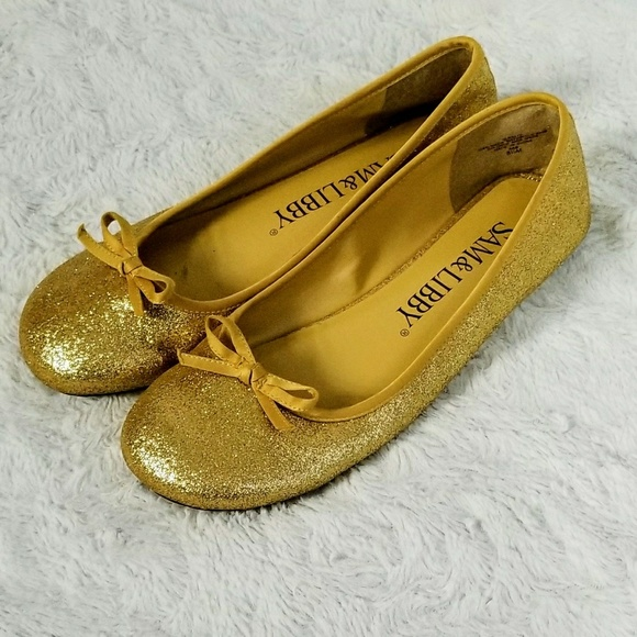 Sam & Libby Shoes - NWOB SAM AND LIBBY GOLD GLITTER FLATS 8.5